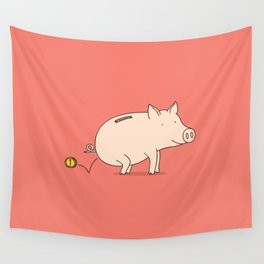 piggy bank Wall Tapestry