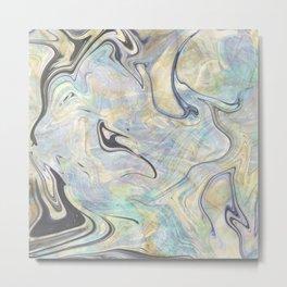 Mermaid Marble Metal Print