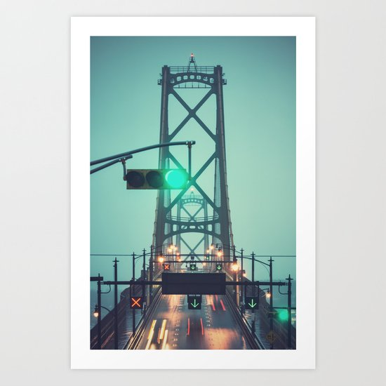Green Light Bridge Art Print
