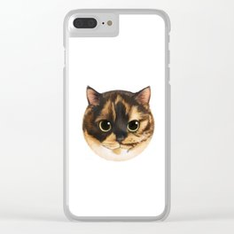 Round Cat - Lang Clear iPhone Case