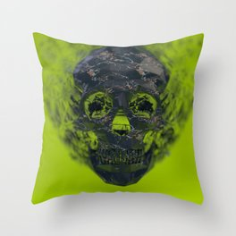 Skull Explotion Throw Pillow