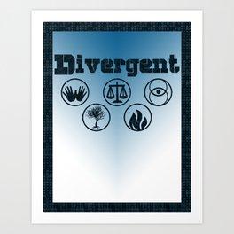 Divergent Art Print