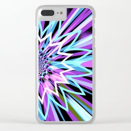 Rotating in Circles Series 11 Clear iPhone Case