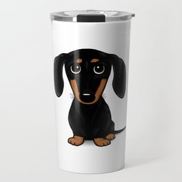 Black and Tan Shorthaired Dachshund Travel Mug