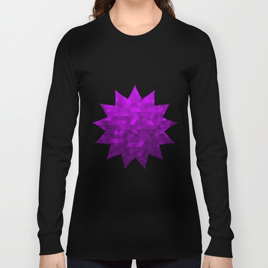 Kwan Yin's Star | Purple Flame | Compassion Long Sleeve T-shirt