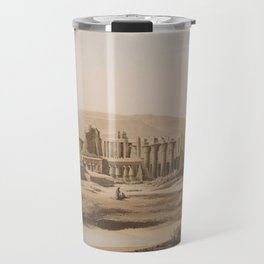 Vintage Illustration of the Thebes Ruins (1856) Travel Mug