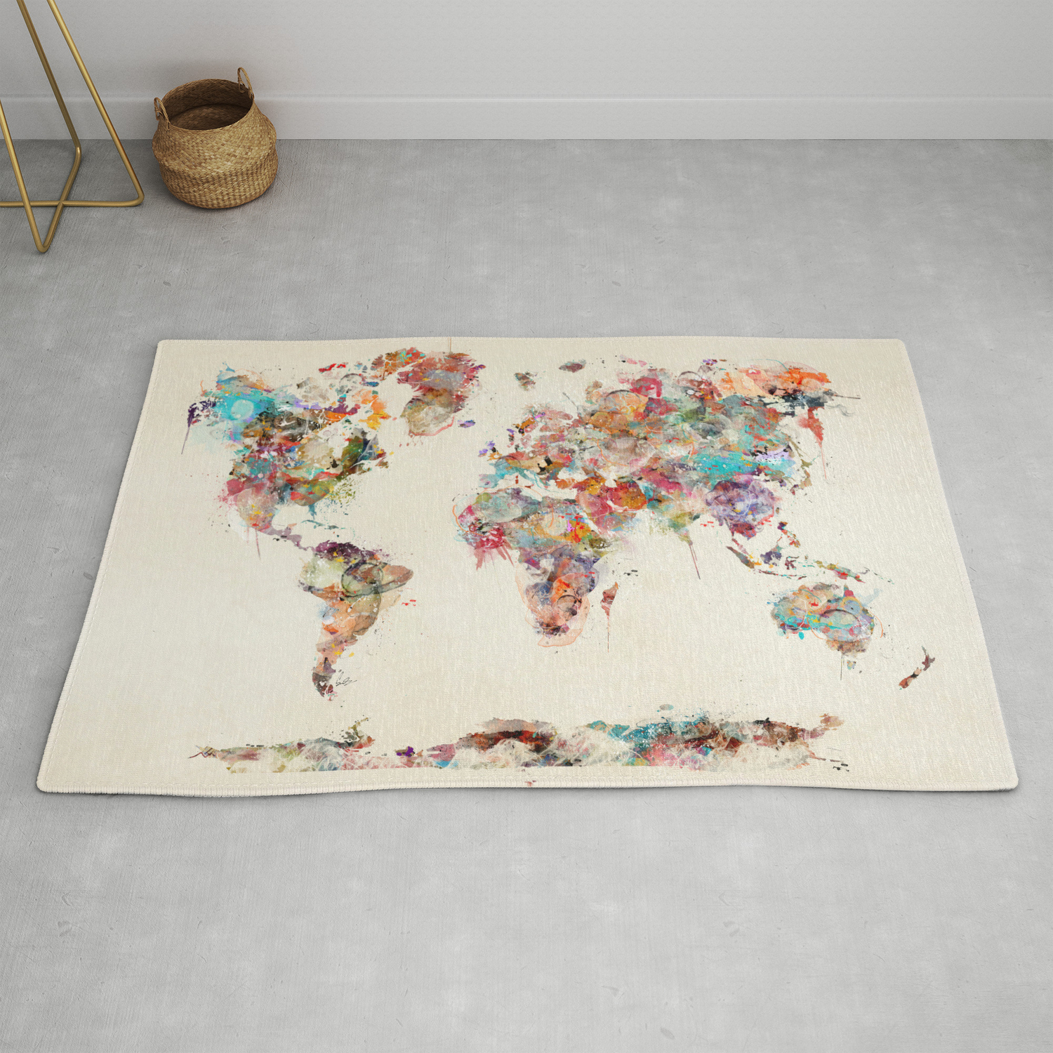 world map watercolor deux Rug by bribuckley on 3x3 world map, 3x5 world map, full page world map, square world map, legal world map, letter world map, 24x36 world map, 10x8 world map, custom world map, 11x14 world map, a4 world map, 10x12 world map, 15x18 world map, 11x17 world map, 8x11 world map, 16x20 world map, 4x8 world map, 12x18 world map, 8x10 world map, size world map,
