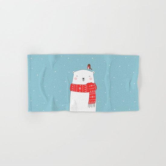 POLAR BEAR&LITTLE BIRD CHRISTMAS Hand & Bath Towel