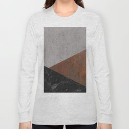 Concrete, Rusted Iron, Marble Abstract Long Sleeve T-shirt