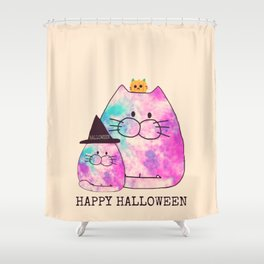 cats halloween 298 Shower Curtain