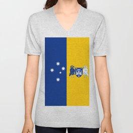 flag of canberra Unisex V-Neck