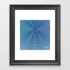 SoundWaves Teal/Indigo Framed Art Print