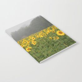 Sunflowers and Mist Notebook