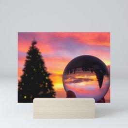 Pink Lensball Crystal Ball Christmas in California Mini Art Print
