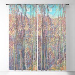 Franklin Carmichael Silvery Tangle Sheer Curtain