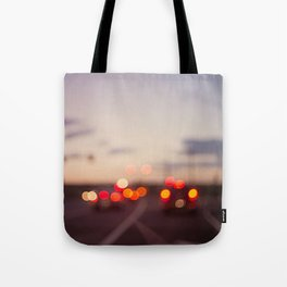 highway at dusk Tote Bag