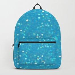 Soft Blue Glimmering Sparkles Backpack