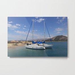 Sailing Greek Islands Metal Print