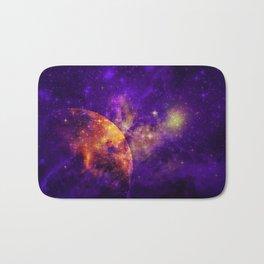Planet, Nebula and Stars Bath Mat