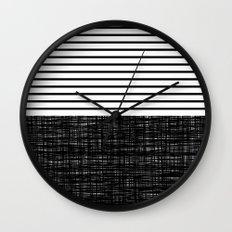 platno (black stripes) Wall Clock