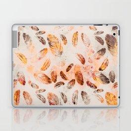 Autumn Feathers watercolor pattern Laptop & iPad Skin