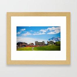 Kleine Scheidegg Railway Station Framed Art Print