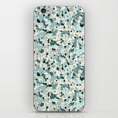 Broken Camo Teal iPhone & iPod Skin