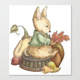 Vintage rabbit Canvas Print