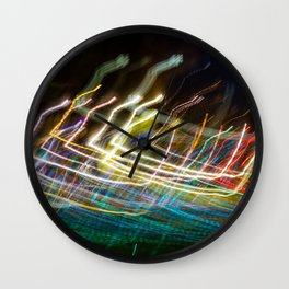 Dancing Lights in Scotland Wall Clock