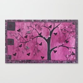 Coexistence Tree Art Acrylic Abstract painting by Saribelle Canvas Print