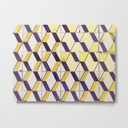Lisbon tiles - retouched yellows Metal Print