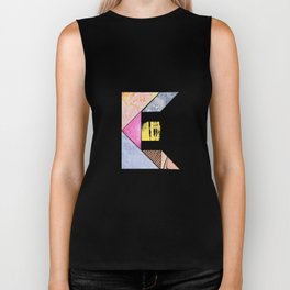 Collaged Tangram Alphabet - E Biker Tank