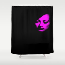 Joan Crawford Fuchsia Shower Curtain