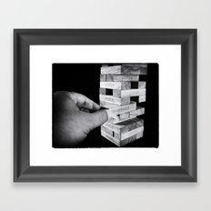 Jenga in Monochrome Framed Art Print