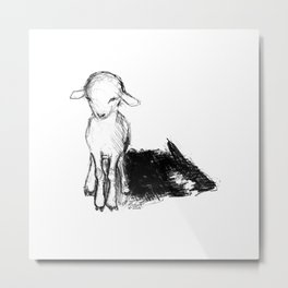 A Wolf In Sheep Clothing Metal Print