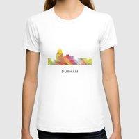 north carolina T-shirts featuring Durham North Carolina Skyline by Marlene Watson