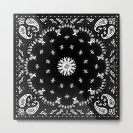 Bandana - Black   Metal Print