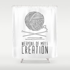 Weapons Of Mass Creation - Knitting Shower Curtain