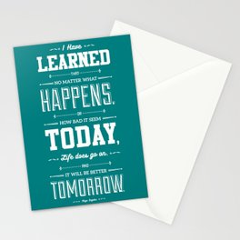 Lab No. 4 I've Learned That No Matter Maya Angelou Inspirational Quote Poster Stationery Cards