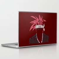 bleach Laptop & iPad Skins featuring renji abarai bleach by Rebecca McGoran
