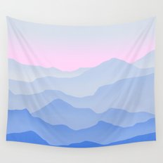 Between blue Wall Tapestry