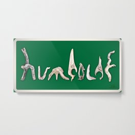 Humboldt Sign Metal Print