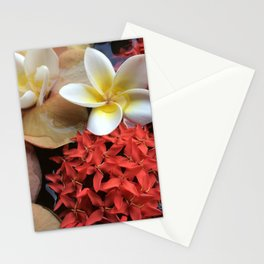 Frangipani & Ixora Stationery Cards