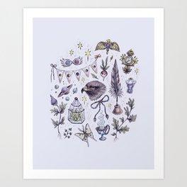 Ravenclaw, Creativity and Wit Art Print
