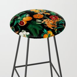 Fruit and Floral Pattern Bar Stool