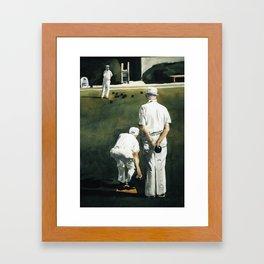 Lawn Bowls Training Day Framed Art Print