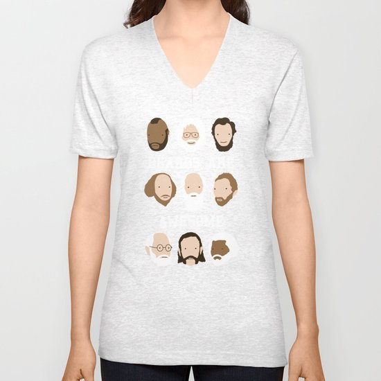 Beards Are Awesome Unisex V-Neck