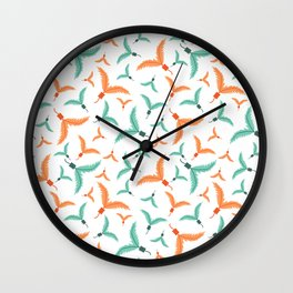 Kitty Cat Feather Toy Wall Clock