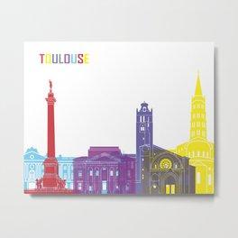 Toulouse skyline pop Metal Print