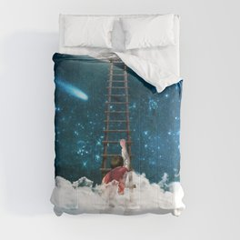 Reach for the Moon v2 Comforters
